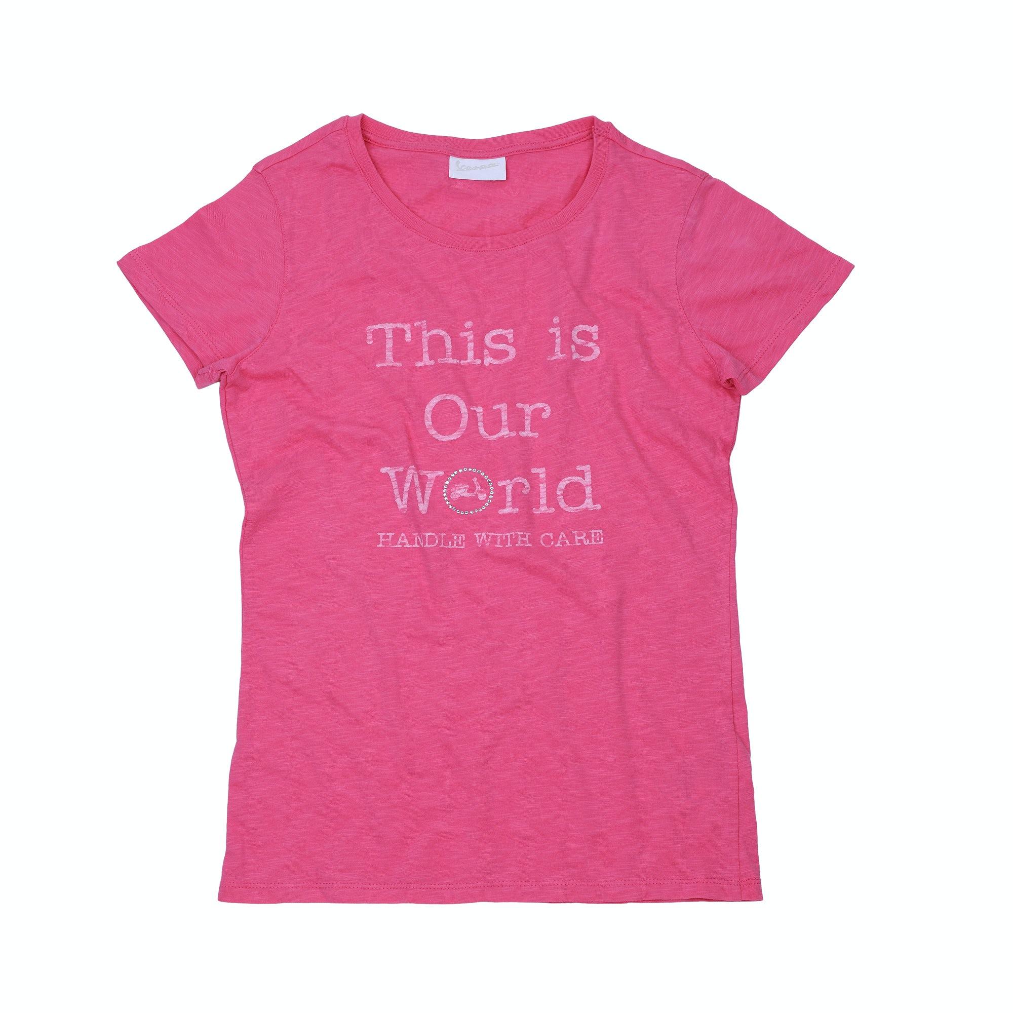 t shirt vespa this our world t shirts abbigliamento. Black Bedroom Furniture Sets. Home Design Ideas