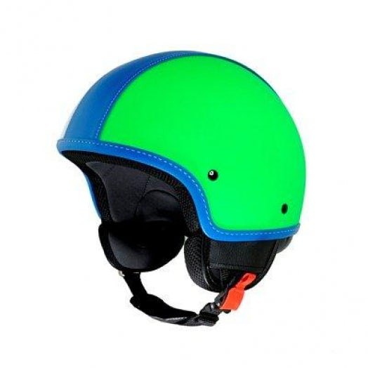 Vintage green vespa helmet