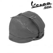 Borsa portacasco  - Materiale sella (Grigio)