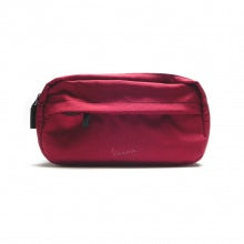 Large cosmetic case rainbow line bordeaux