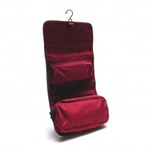 Wrap cosmetic case rainbow line bordeaux