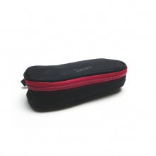 Oval pencil case rainbow line black