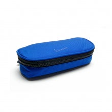 Oval pencil case rainbow line blue