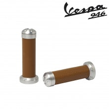 Alluminium Handgrips -  Natural Real Leather