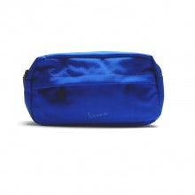 Large cosmetic case rainbow line blue