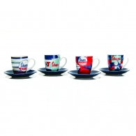 Coffee cup set (4 pcs) - Vespa Servzio -