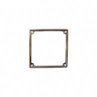 Stainless steel registration plate frame