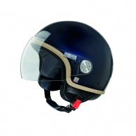 CASCO VESPA BLUE MIDNIGHT VISOR 2.0