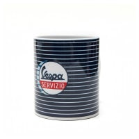 "Mug - Vespa Servzio - ""Stripes"""